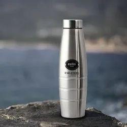 Standard Cello Fino Stainless Steel Water Bottle, 1000ml, Silver, 1 L, Screw