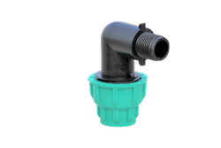 PP Compression Male Threaded Elbow