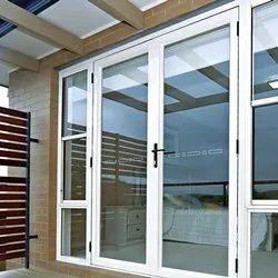 Hinged Plain Designer Aluminium Glass Door, For Office