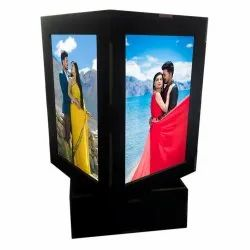 LED Modern/Contemporary Square 3D Revolving Lamp, For Decoration, Size: 4 X 4 X 6 Inch (l X W X H)