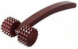 TORA Acupressure Handle Roller Wooden Back Massager