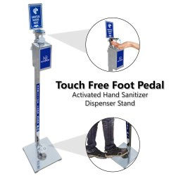 Premium Stainless Steel Hand Sanitizer Dispenser Stand Touchless Portable With Bottle Capacity 850ml
