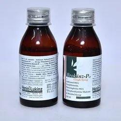 Ambroxol HCL Gaxiphcnesin Pgenylephrine HCL Chlorpheniramine Maleate And Menthol Syerup
