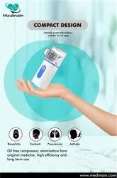 Medinain All In 1 Portable Ultrasonic Nebulization Steamer Inhaler For Face, Cold, Cough, Sinus,