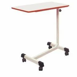 White Stainless Steel Hospital Food Service Table