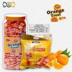 OVAL Orange Candy, Packaging Type: Plastic Jar, Packaging Size: 300 Pcs Jar 100 Pcs Pkt