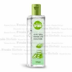 Transparent Aloe Vera Toner And Cleanser, For Face, Packaging Size: 100 Gm