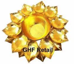 10 Inch Size Lotus Flower Design Decorative Urli Traditional Bowl Decor Showpiece