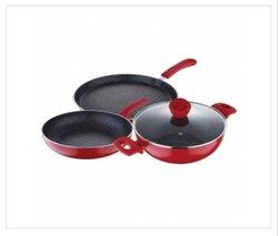 Aluminium Polished Bergner Bellini Plus 4 Pc Cookware Set, For Kitchen
