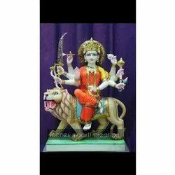 Colored Marble Durga Statue