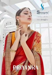 Shangrila Creation Priyanka Pure Georgette With Designer Border Work Saree Catalog