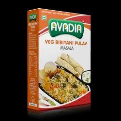 Avadia Veg Biriyani Pulav Masala, Packaging Size: 50g. 100g,250g, Packaging Type: Box