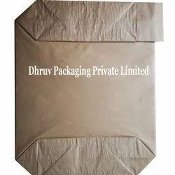 Plain Multiwall Kraft Paper Flat Bottom Valve Bag