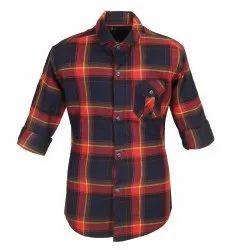 Full Sleeves Kids Cotton Check Shirt
