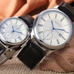 Round Analog Fluid Couple Watches, For Formal
