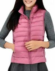 Female Sleeveless Puffer Jacket.