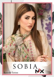 Sobia NX Cotton Karachi Printed Suits Catalog Collection