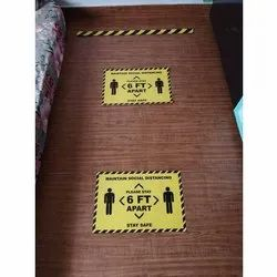 Safety Social Distancing Sticker