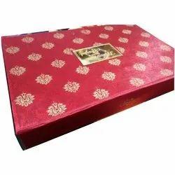 Royal Rectangle Designer Wedding Card Box, Size/Dimension: 35x29x5 Cm