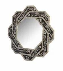 Bone Inlay Black & white Mirror Frame, Size/Dimension: 36x36x4 Inch