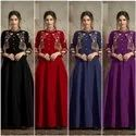 Stylish Embroidery Ladies Jacket Gown