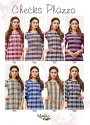 Manas Checks Plazzo Rayon With Embroidery Work Kurti With Bottom Catalog