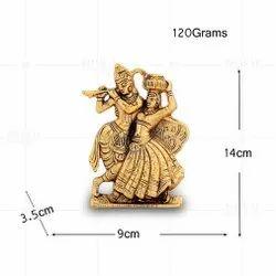 Gold Plated Radha Kishan Matki