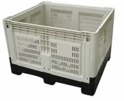 Off White Plastic Pallets Boxes, For Storage, Capacity: 50Kg