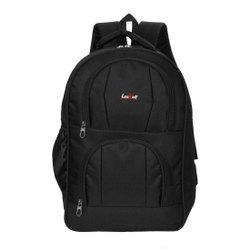 Canvas Black LeeRooy Casual Laptop Backpack Bag, Capacity: 35 L