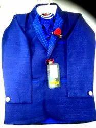 Blue Boy Cotton Plain Kids Coat Suit