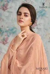 Sajawat Creation Meraki Vol 5 Georgette Long Gown Style Salwar Suit Catalog