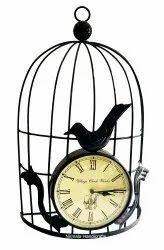 Nirmala Handicrafts Iron Cage Watch Wall Hanging Home Decor Item