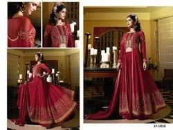 Leranath Fashion Semi-Stitched Georgette Anarkali Suit, Dry clean