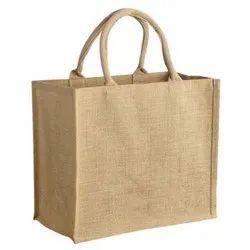 Brown Plain Jute Bag