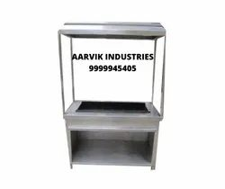 Barbeque Grill Coal Operated With Hood