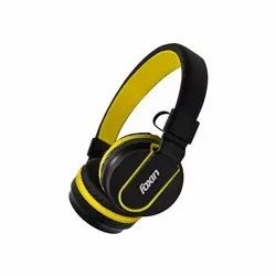 On The Ear Black Yellow Foxin FWH-307 Bluetooth Headset