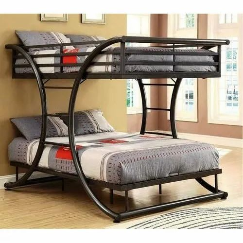 Modern Color Coated Twin Over Twin Metal Bunk Bed Size 6x5 Feet Id 15685993788
