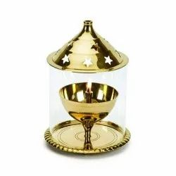 Brass Akhand Diya for Puja Room Decoration Oil Lamp