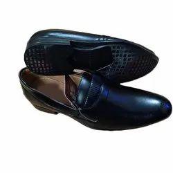 Black Mens Rexine Formal Shoes, Size: 6-10