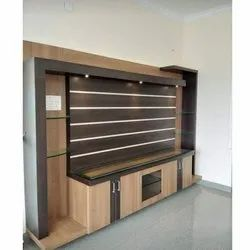 Wooden TV Wall Unit