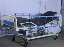 ICU BED 5 FUNCTION FOOT AND HEAD BOWS ABS SIDE RAILING COLLAPSIBAL