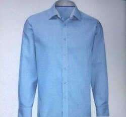 Blue Regular Fit Plain Formal Shirt