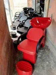 Red Shampoo Chair