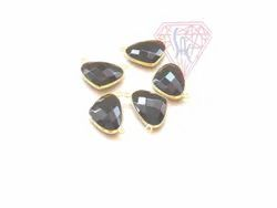 Handmade Black Onyx Heart Shape Bezel Connector