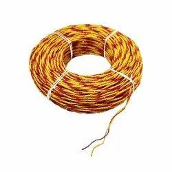 Yellow Asbetoss k Type Thermocouple Wires