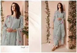 Party Wear Ganga Cotton Suits With Print and Hand Work Suits