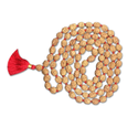 Brown Oval 4 Mukhi Indonesian Rudraksha Mala 108 Beads