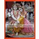 Marble Radha Krishna With Cow