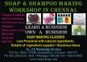 1day Transparent Soap Making Classes, Chennai, J J Natural Cosmetics