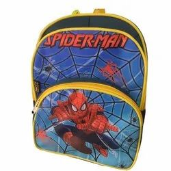 Synthetic Spiderman Web Printed Kids School Bag, Capacity: 15 L